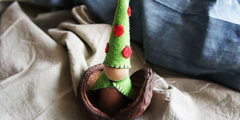 [華德福手作]森林裡的地精娃娃~不織布與小木人的巧妙組合