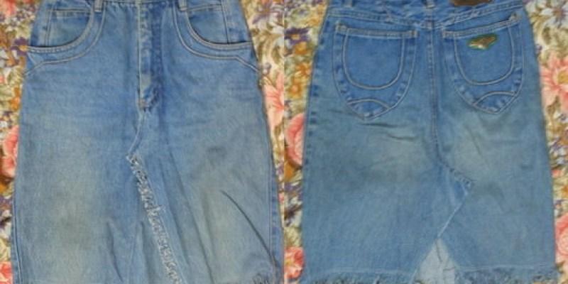 舊衣改造DIY|牛仔褲變成牛仔短裙