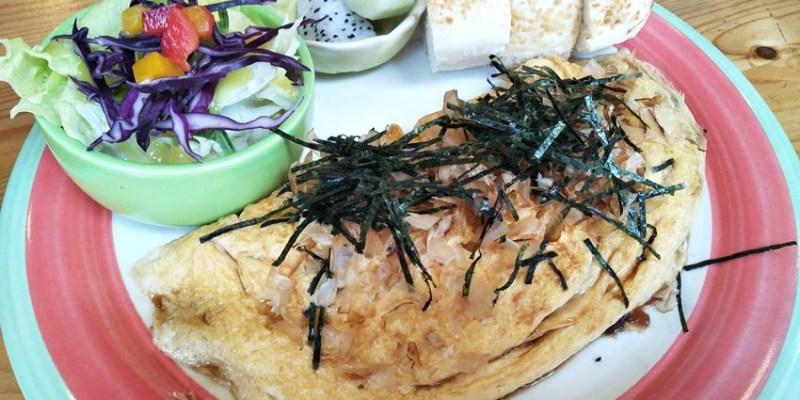 南屯早午餐 頌膾Brunch~親子友善、寵物友善餐廳 章魚燒歐姆蛋捲好吃喔!