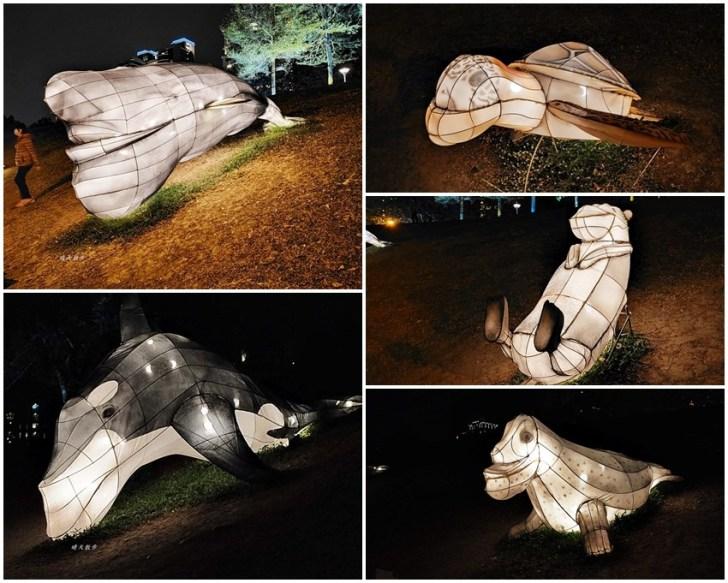 20200213164439 34 - 台中燈會|2020台灣燈會在台中,副展區文心森林公園戽斗星球動物晚上也好拍,還有人造雪喔!