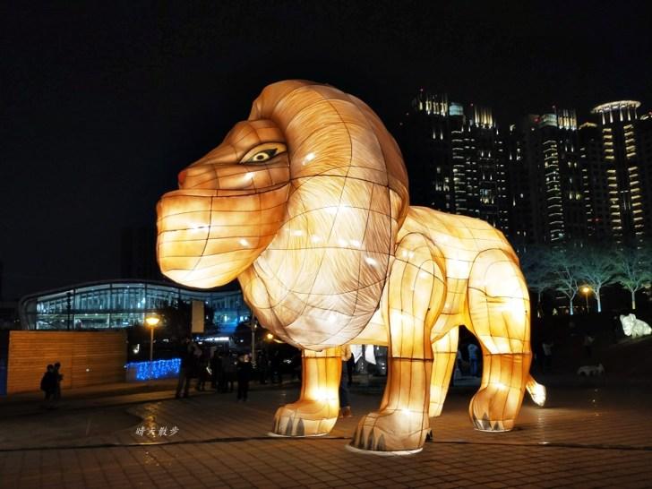 20200213164511 99 - 台中燈會|2020台灣燈會在台中,副展區文心森林公園戽斗星球動物晚上也好拍,還有人造雪喔!
