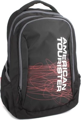 American Tourister Ebony 02 Backpack(Black/Red)
