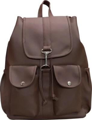 Groset Double Pocket 5 L Backpack(Dark Brown)