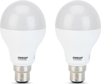 Eveready 12W LED Bulb Pack of 2 with Free 4 Batteries(White, Pack...
