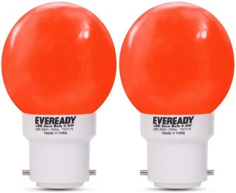 Eveready 0.5 W B22 LED Bulb(Red, Pack of 2)