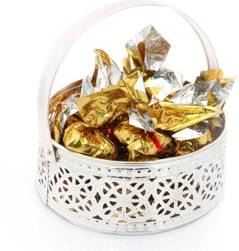 Ghasitaram Gifts Silver Small Basket Chocolate Bars(Pack of 12, 225 g)