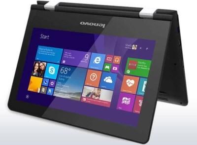 Lenovo Yoga Series Pentium Quad Core 4th Gen - (4 GB/500 GB HDD/Windows 8 Pro) 80M00011IN 2 in 1 Laptop(11.6 inch, Black, 1.39 kg)