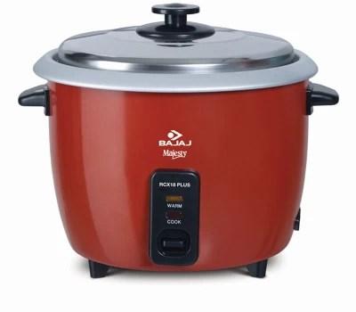 Bajaj RCX18 PLUS Electric Rice Cooker(1.8 L, Red)