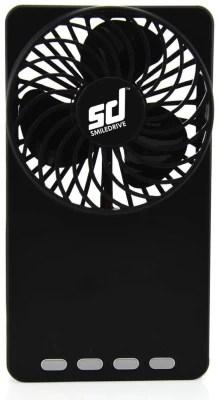 Smiledrive Rechargeable Super Breeze with Inbuilt Power Bank 3 Blade Table Fan(Black)