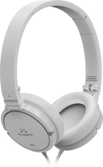 SoundMagic P21 Wired Headphones(White, Over the Ear)