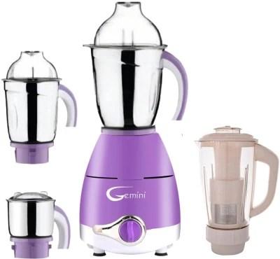 Gemini Latest Upgrade LPMG17_94 600 W Juicer Mixer Grinder(Lavender, 4 Jars)