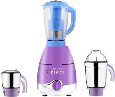 Day-Night Star Device ABS Plastic LPMG17_152 750 W Juicer Mixer Grinder(Lavender, 3 Jars)