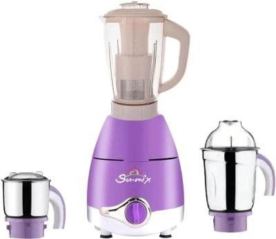 Su-mix ABS Plastic LPMA17_190 1000 W Juicer Mixer Grinder(Lavender, 3 Jars)