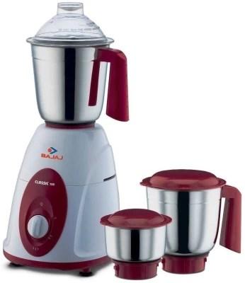 BAJAJ 410174 750 W Mixer Grinder(Black, White, 3 Jars)