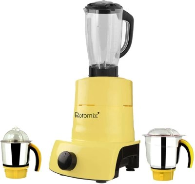 Rotomix ABS Plastic YPMG17_547MA 1000 W Juicer Mixer Grinder(Yellow, 3 Jars)