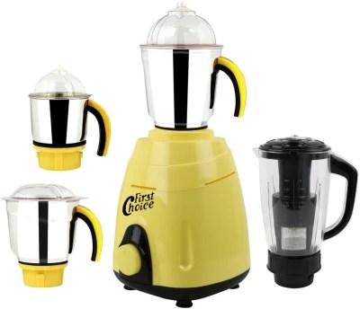 Firstchoice New_MG16-469MA 1000 W Juicer Mixer Grinder(Yellow, 4 Jars)