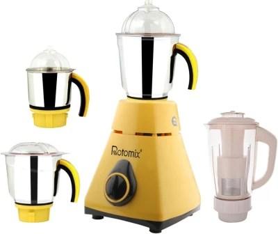 Rotomix New_MG16-304MA 600 W Juicer Mixer Grinder(Yellow, 4 Jars)