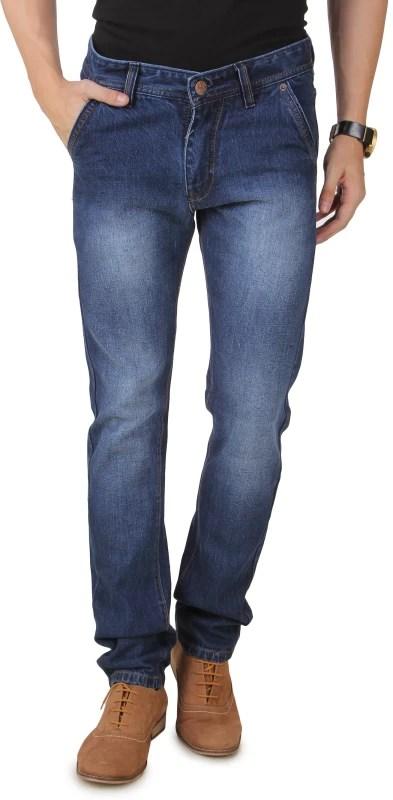 UK Blue Slim Men's Dark Blue Jeans
