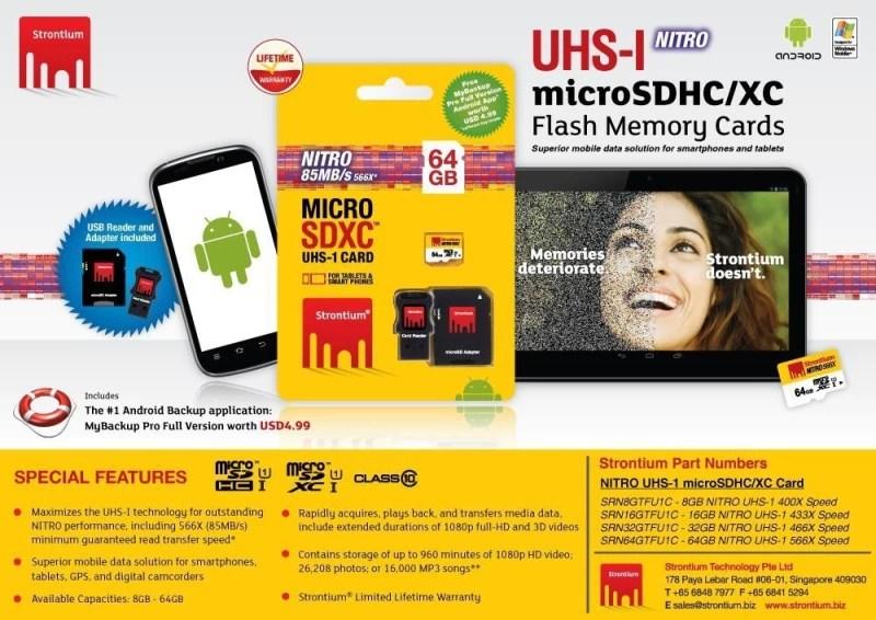 Strontium Nitro 64 GB MicroSDXC Class 10 85 MB/s Memory Card