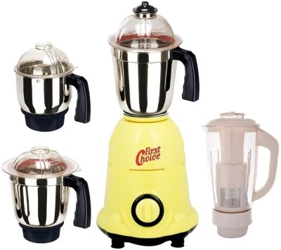First Choice FC-MG16 7 600 W Mixer Grinder(Yellow, 4 Jars)