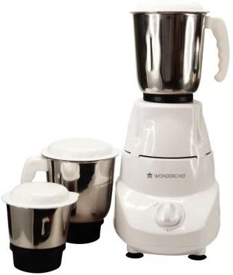 Wonderchef Prato 500 W Mixer Grinder(White, 3 Jars)