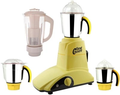 First Choice MG16-210 1000 W Mixer Grinder(Yellow, 4 Jars)