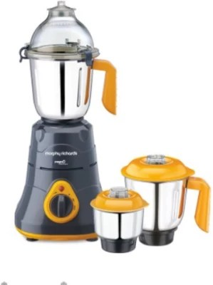 Morphy Richards primo classique 750 W Mixer Grinder(black and yellow, 3 Jars)