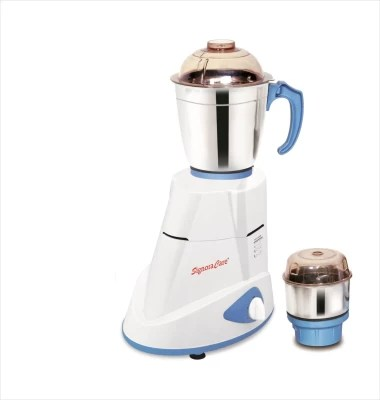 SignoraCare Eco Super 550 W Mixer Grinder(White, 2 Jars)