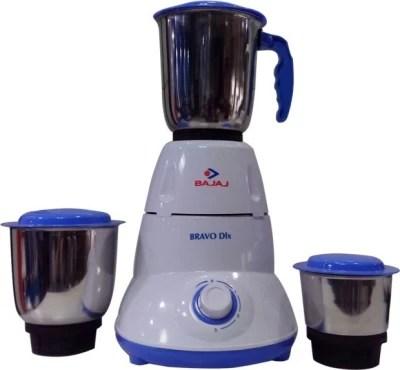Bajaj Bravo 500 W Mixer Grinder(White, 3 Jars)