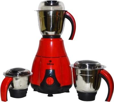 Libra 3 jar Mixer grinder with ISI Approval &650 watt Motor 650 W Mixer Grinder(Red, Black, 3 Jars)