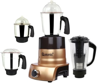 Rotomix ABS Body MGJ 2017-148 600 W Mixer Grinder(Multicolor, 4 Jars)