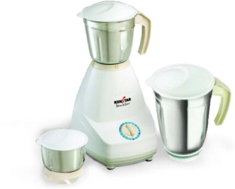 Kenstar Senator 500 W Mixer Grinder(White, 3 Jars)