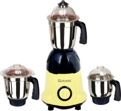 Rotomix Roto 1000 ArwaYellowBlack 1000 W Mixer Grinder(Yellow, 3 Jars)