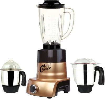 First Choice MA ABS Body MGJ WOF 2017-153 600 W Juicer Mixer Grinder(Gold, 3 Jars)