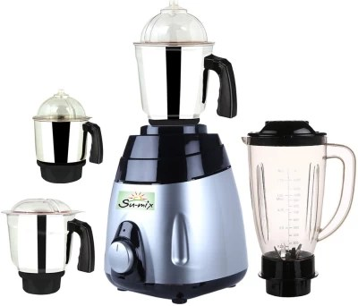 Su-Mix MA ABS Body MGJ WOF 2017-42 750 W Juicer Mixer Grinder(Multicolor, 4 Jars)