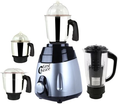 First Choice ABS Body MGJ 2017-49 1000 W Mixer Grinder(Multicolor, 4 Jars)