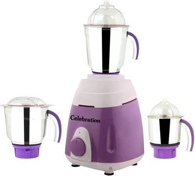 Celebration MG16-200 750 W Mixer Grinder(Purple, 3 Jars)