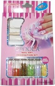 Opoola Nail Art Decoration Kit With Glue Stick