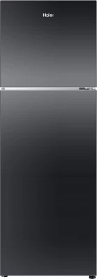 Haier 270 L Frost Free Double Door Refrigerator(HRF-2904PKG-R, Black Glass, 2016)