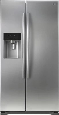 LG 567 L Frost Free Side by Side Refrigerator(GC-L207GLQV, Shiny Steel)