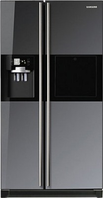 SAMSUNG 585 L Frost Free Side by Side Refrigerator(RS21HZLMR1/XT, Mirror,Glass)