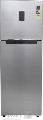 SAMSUNG 345 L Frost Free Double Door Refrigerator(RT37K3763S9, Refined Inox)
