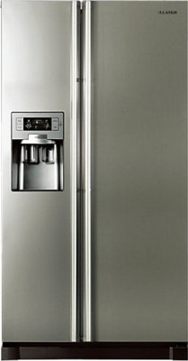 SAMSUNG 585 L Frost Free Side by Side Refrigerator(RS21HUTPN1/XT, Platinum Inox)