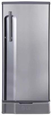 LG 188 L Direct Cool Single Door Refrigerator(GL-D191KPZQ, Shiny Steel, 2016)