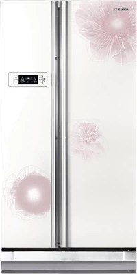 SAMSUNG 600 L Frost Free Side by Side Refrigerator(RS21HSTWA1/XTL, Camellia White)
