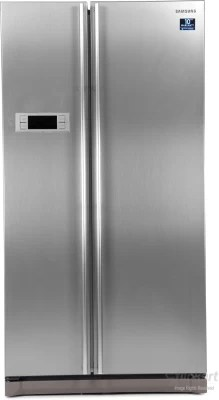 SAMSUNG 600 L Frost Free Side by Side Refrigerator(RS21HSTPN1/XT, Platinum Inox)