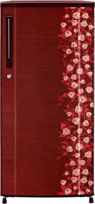 Haier 170 L Direct Cool Single Door Refrigerator(HRD-1905CRI-H, Red Floral)