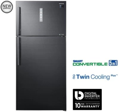 SAMSUNG 670 L Frost Free Double Door Refrigerator(RT65K7058BS/TL, Black Inox)
