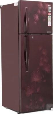 LG 260 L Frost Free Double Door Refrigerator(GL-I292RSFL, Scarlet Florid, 2016)