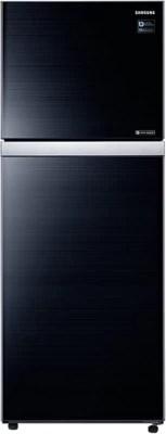 SAMSUNG 415 L Frost Free Double Door Refrigerator(RT42K5068GL, Black Glass)